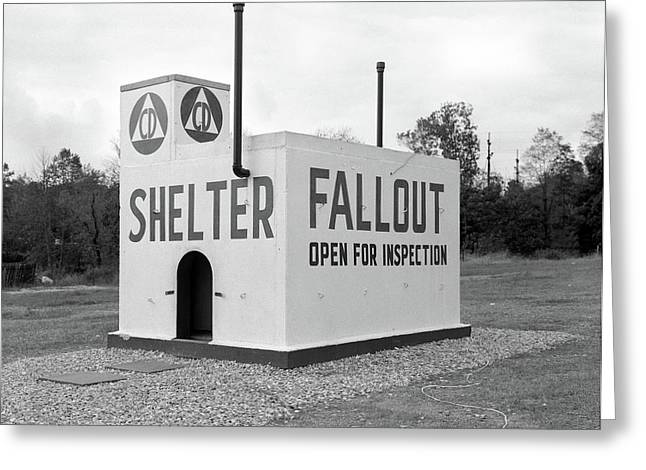 1950s Civil Defense Fallout Shelter Greeting Card