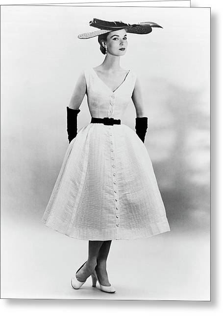1950s Fashion Greeting Card by Underwood Archives