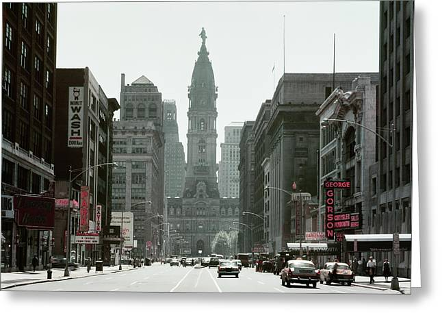 1950s North Broad Street Looking South Greeting Card