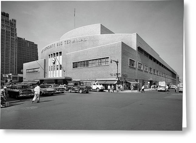 1950s Port Authority Bus Terminal 8th Greeting Card