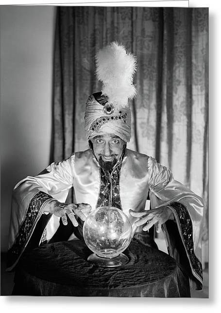 1950s Portrait Man Soothsayer Swami Greeting Card