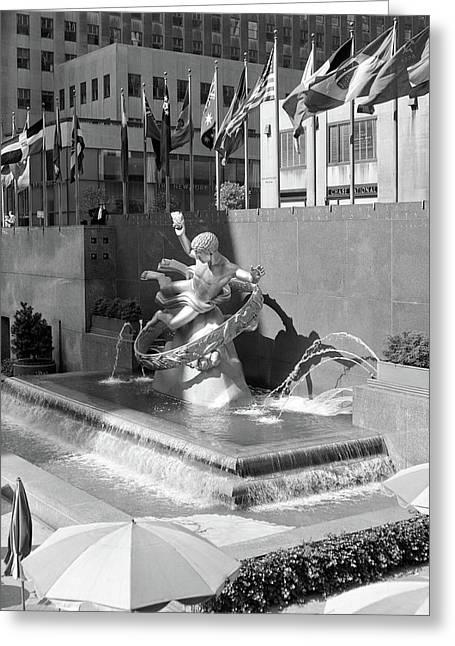 1950s Rockefeller Center Prometheus Greeting Card