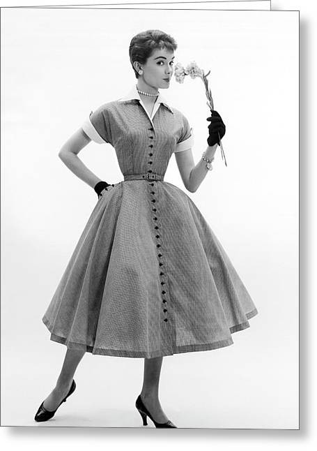 1950s Spring Fashion Greeting Card by Underwood Archives