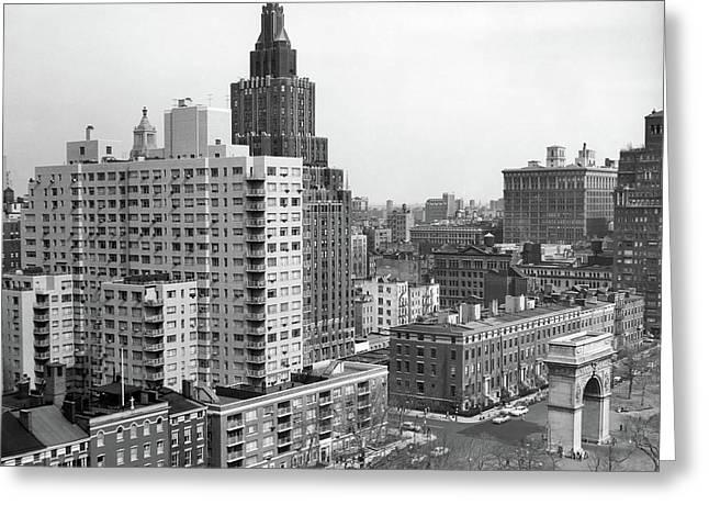 1950s View Washington Square North Greeting Card