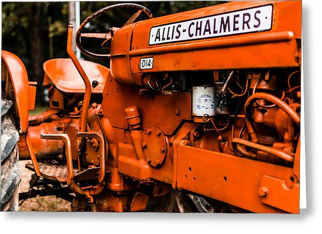 1950s-vintage Allis-chalmers D14 Tractor Greeting Card by Jon Woodhams