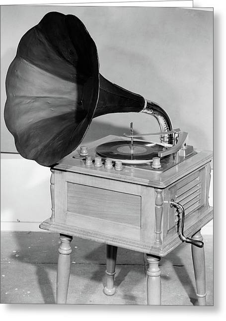 1950s Vintage Gramophone Converted Greeting Card