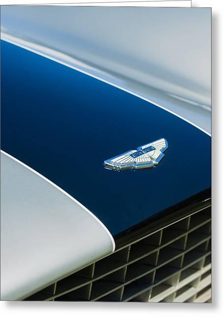 1951 Aston Martin Db2 Coupe Hood Emblem Greeting Card