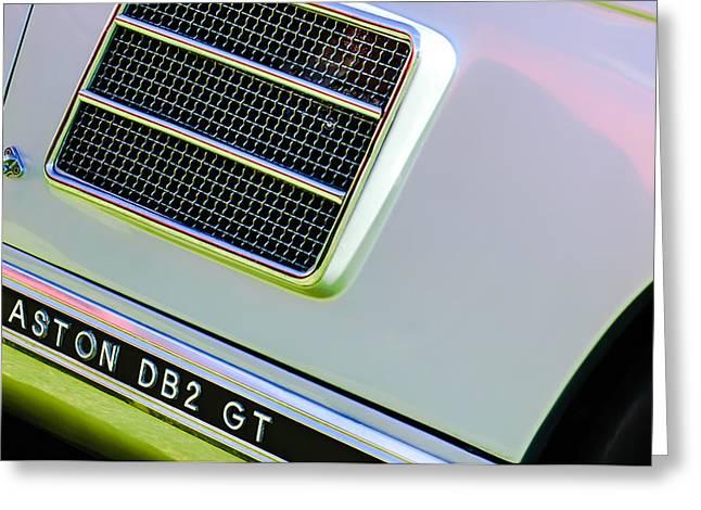 1951 Aston Martin Db2 Coupe Side Emblem Greeting Card
