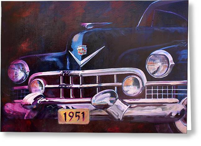 1951 Cadillac Greeting Card by Ron Patterson