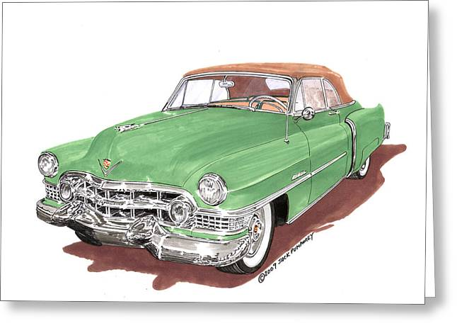 1951 Cadillac Series 62 Convertible Greeting Card by Jack Pumphrey