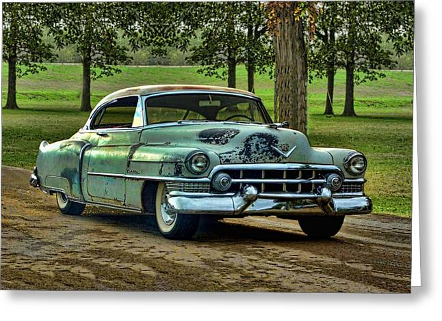 Greeting Card featuring the photograph 1951 Cadillac by Tim McCullough