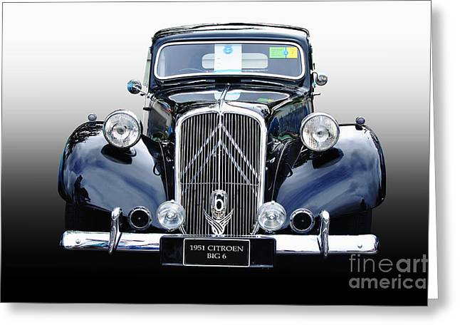 1951 Citroen Big 6 Greeting Card by Kaye Menner