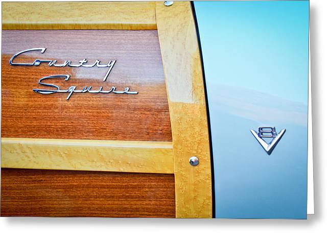 1951 Ford Woodie Country Squire Emblem Greeting Card