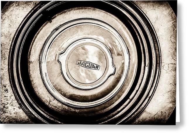 1951 Jaguar Xk 120 Ots Wheel Emblem -1098s Greeting Card