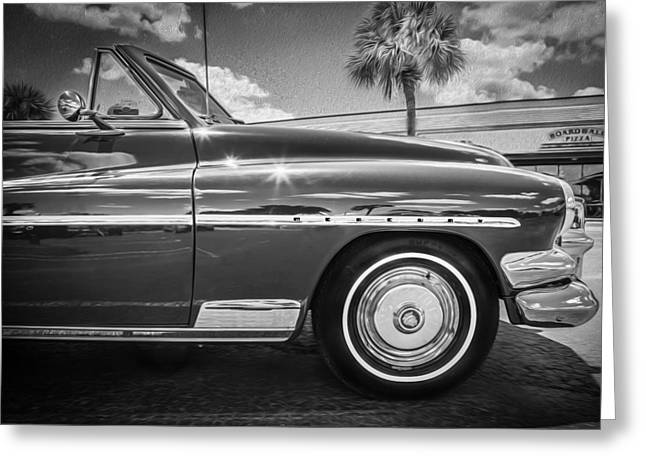 1951 Mercury Convertible Painted Bw  Greeting Card