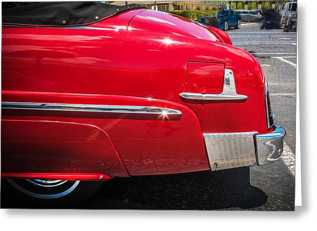 1951 Mercury Convertible Painted  Greeting Card by Rich Franco