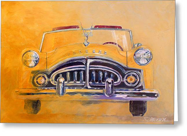 1951 Packard Clipper Greeting Card by Ron Patterson