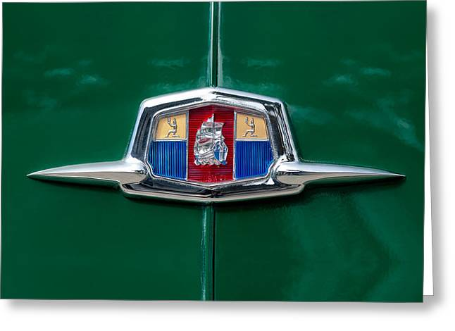 1951 Plymouth Suburban Emblem Greeting Card by Jill Reger