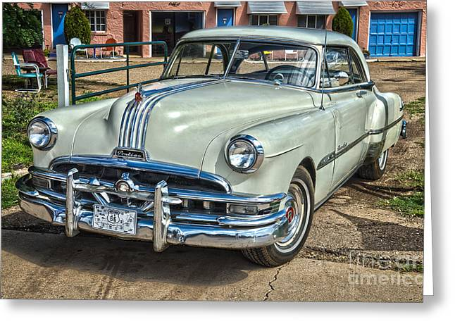 1951 Pontiac Chieftain Side View Greeting Card by Bob and Nancy Kendrick