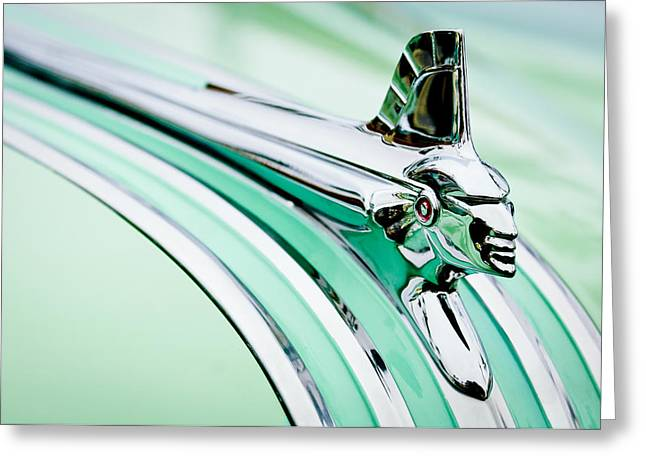 1951 Pontiac Streamliner Hood Ornament 2 Greeting Card