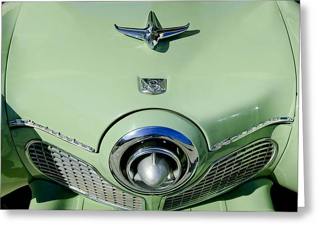 1951 Studebaker Commander Hood Ornament 2 Greeting Card by Jill Reger