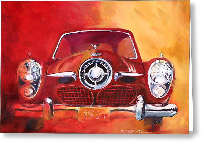 1951 Studebaker Greeting Card by Ron Patterson