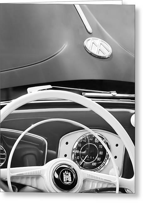 1951 Volkswagen Vw Beetle Cabriolet Steering Wheel Emblem - Hood Emblem Greeting Card