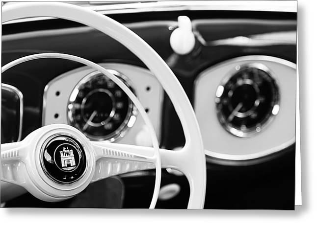 1951 Volkswagen Vw Beetle Cabriolet Steering Wheel Emblem Greeting Card