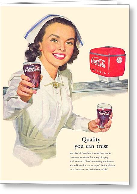 1952 - Coca-cola Advertisement - Color Greeting Card