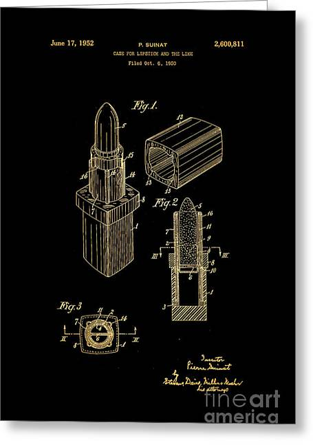 1952 Chanel Lipstick Case 10 Greeting Card by Nishanth Gopinathan