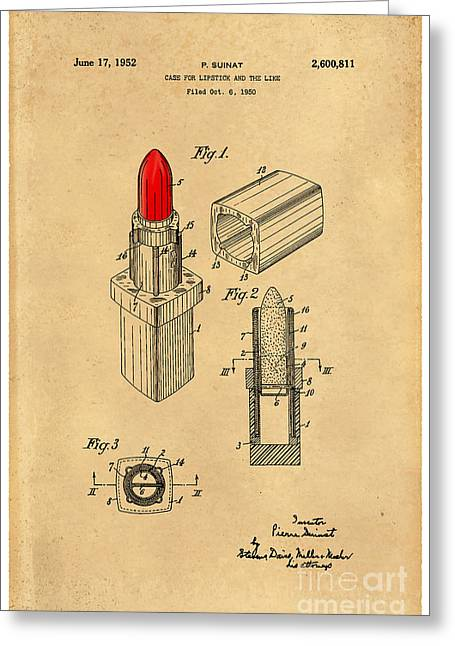 1952 Chanel Lipstick Case 4 Greeting Card by Nishanth Gopinathan