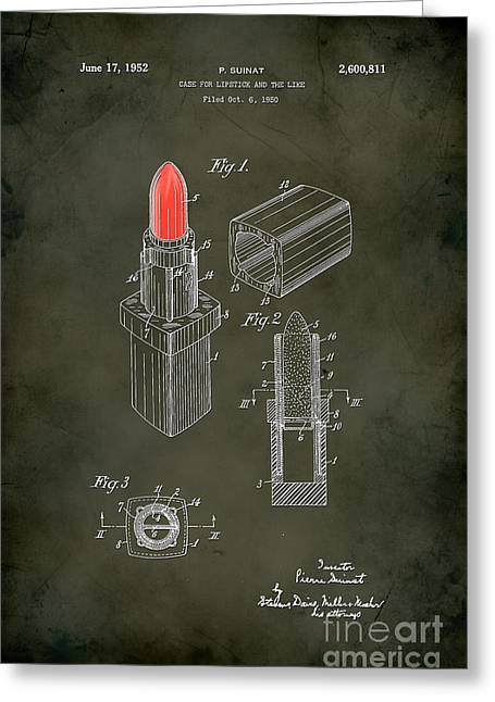 1952 Chanel Lipstick Case 5 Greeting Card by Nishanth Gopinathan