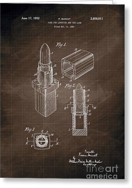1952 Chanel Lipstick Case 8 Greeting Card by Nishanth Gopinathan
