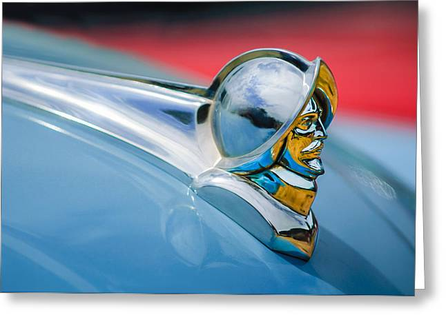 1952 Desoto Hood Ornament Greeting Card