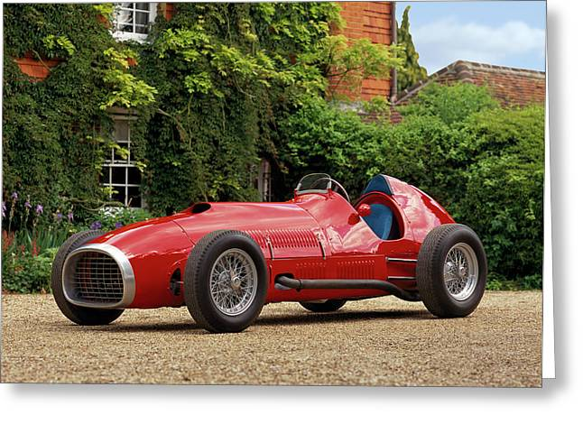 1952 Ferrari 375 Indianapolis Formula Greeting Card by Panoramic Images