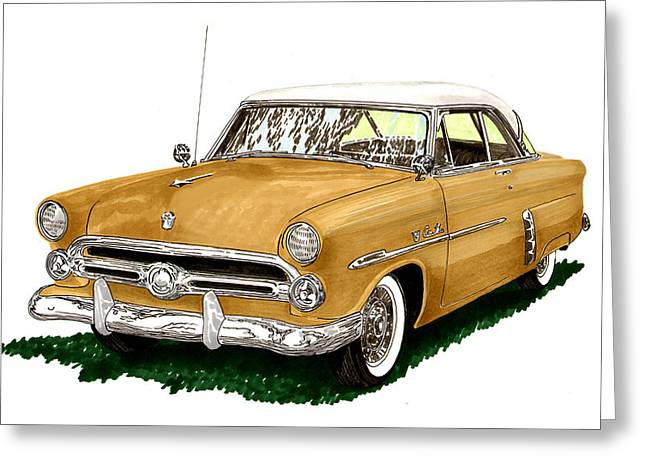 1952 Ford Victoria Greeting Card by Jack Pumphrey