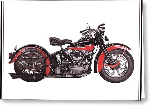 1952 Harley Davidson Greeting Card