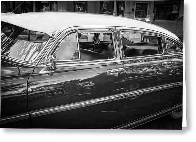 1952 Hudson Hornet 4 Door Sedan Twin H Power Painted Bw   Greeting Card by Rich Franco