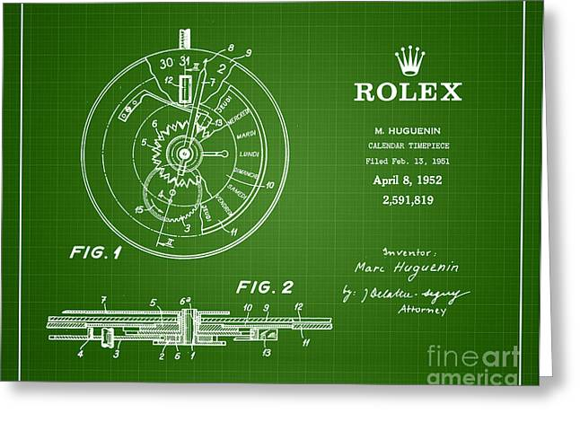 1952 Rolex Calendar Timepiece 2 Greeting Card by Nishanth Gopinathan