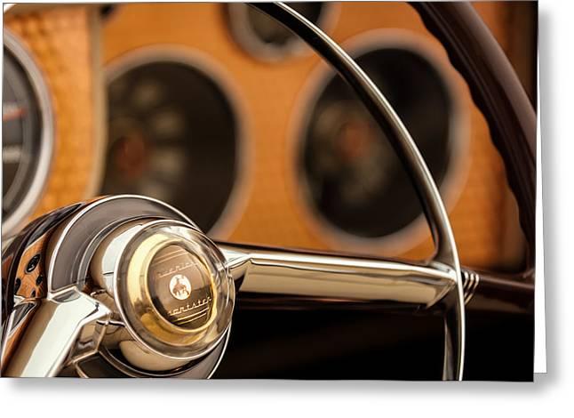 1952 Sterling Gladwin Maverick Sportster Steering Wheel Emblem -1848c Greeting Card by Jill Reger