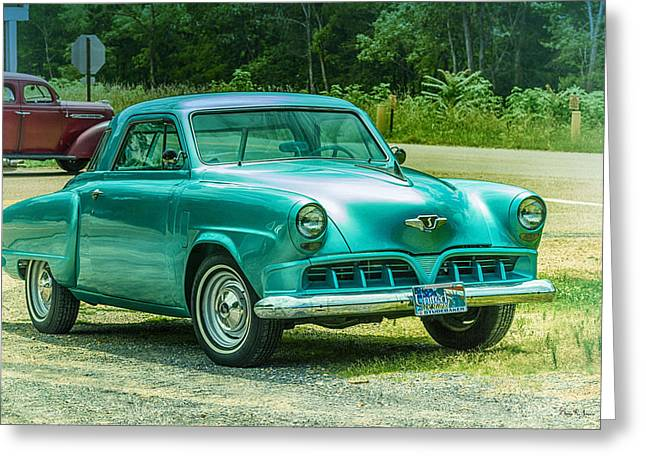 1952 Studebaker Greeting Card by Barry Jones