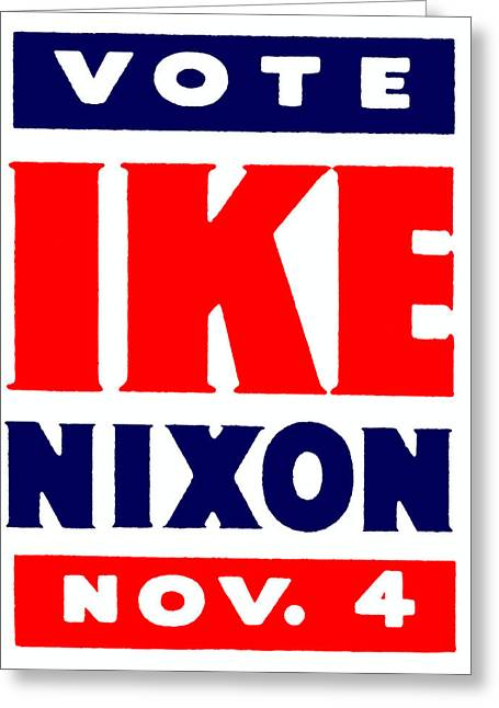 1952 Vote Ike And Nixon Greeting Card