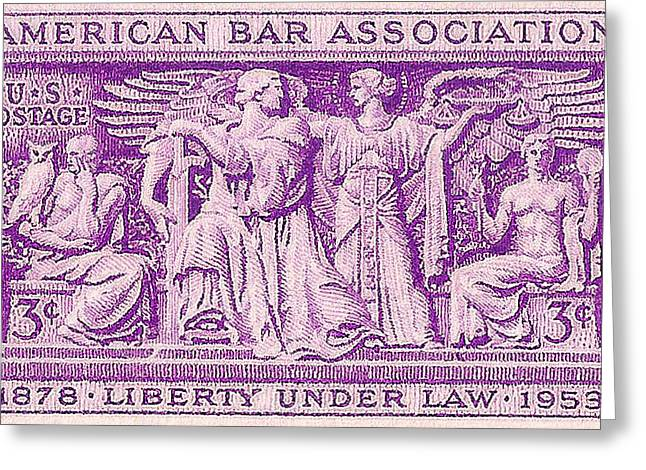 1953 American Bar Association Postage Stamp Greeting Card by David Patterson