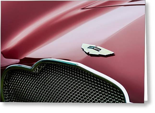 1953 Aston Martin Db2-4 Bertone Roadster Hood Emblem Greeting Card