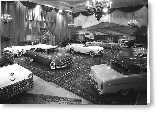 1953 Auto Show Greeting Card by Underwood Archives