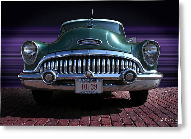 1953 Buick Greeting Card by Andrea Kelley