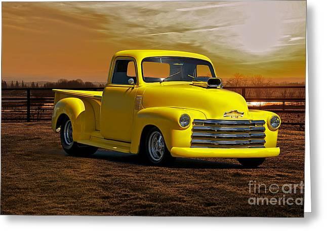 1953 Chevrolet Pick Up 'custom' Truck Greeting Card by Dave Koontz