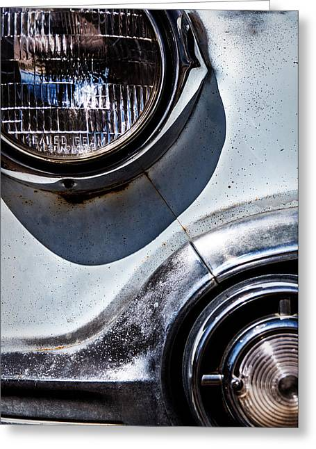 1953 Chevy Headlight Detail Greeting Card by  Onyonet  Photo Studios