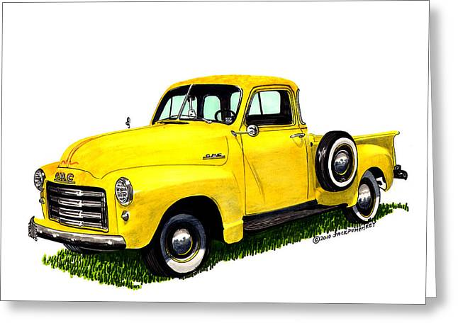 1953 G M C 5-window Pick-up Greeting Card by Jack Pumphrey