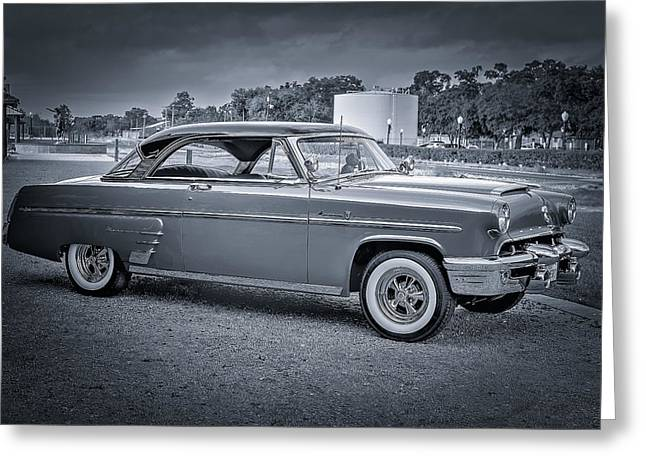 1953 Mercury Monterey Bw 2 Greeting Card by David Morefield
